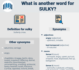 sulky, synonym sulky, another word for sulky, words like sulky, thesaurus sulky