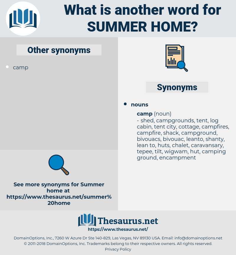 summer home, synonym summer home, another word for summer home, words like summer home, thesaurus summer home