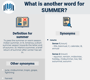 summer, synonym summer, another word for summer, words like summer, thesaurus summer