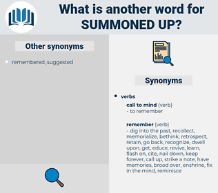 summoned up, synonym summoned up, another word for summoned up, words like summoned up, thesaurus summoned up