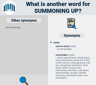 summoning up, synonym summoning up, another word for summoning up, words like summoning up, thesaurus summoning up