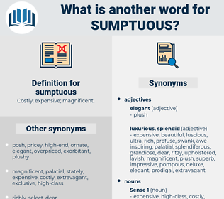 sumptuous, synonym sumptuous, another word for sumptuous, words like sumptuous, thesaurus sumptuous