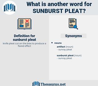 sunburst pleat, synonym sunburst pleat, another word for sunburst pleat, words like sunburst pleat, thesaurus sunburst pleat