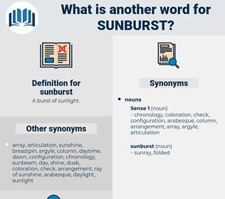 sunburst, synonym sunburst, another word for sunburst, words like sunburst, thesaurus sunburst