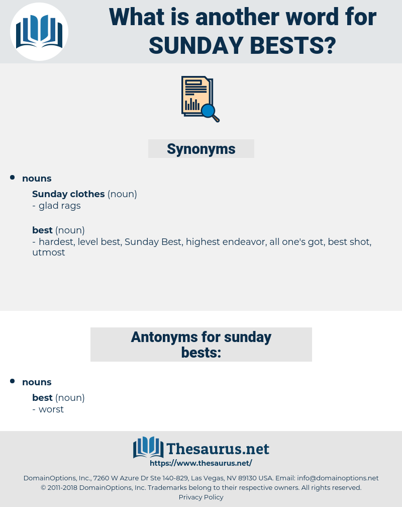 sunday bests, synonym sunday bests, another word for sunday bests, words like sunday bests, thesaurus sunday bests