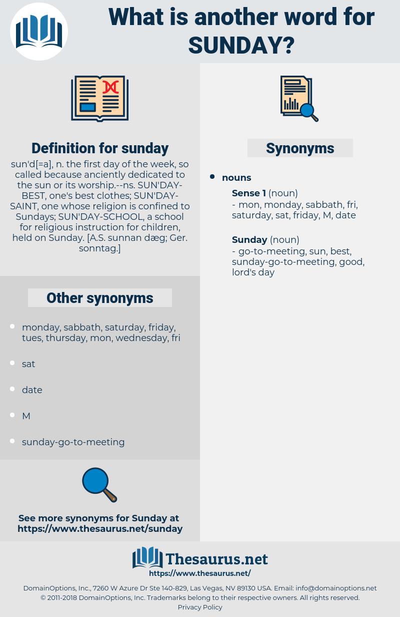 sunday, synonym sunday, another word for sunday, words like sunday, thesaurus sunday