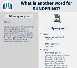 Sundering, synonym Sundering, another word for Sundering, words like Sundering, thesaurus Sundering