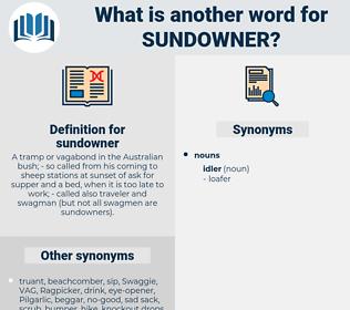 sundowner, synonym sundowner, another word for sundowner, words like sundowner, thesaurus sundowner