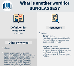 sunglasses, synonym sunglasses, another word for sunglasses, words like sunglasses, thesaurus sunglasses