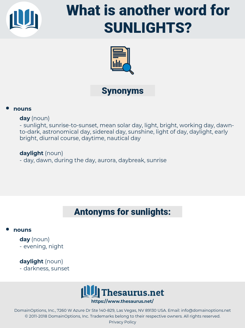 sunlights, synonym sunlights, another word for sunlights, words like sunlights, thesaurus sunlights
