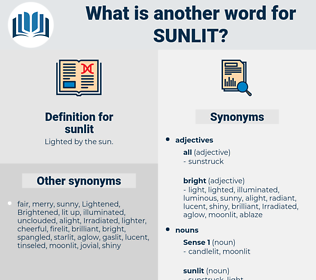sunlit, synonym sunlit, another word for sunlit, words like sunlit, thesaurus sunlit