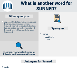 Sunned, synonym Sunned, another word for Sunned, words like Sunned, thesaurus Sunned