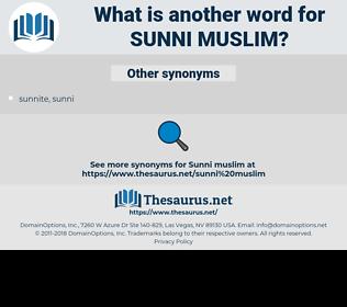 Sunni Muslim, synonym Sunni Muslim, another word for Sunni Muslim, words like Sunni Muslim, thesaurus Sunni Muslim