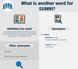 sunni, synonym sunni, another word for sunni, words like sunni, thesaurus sunni