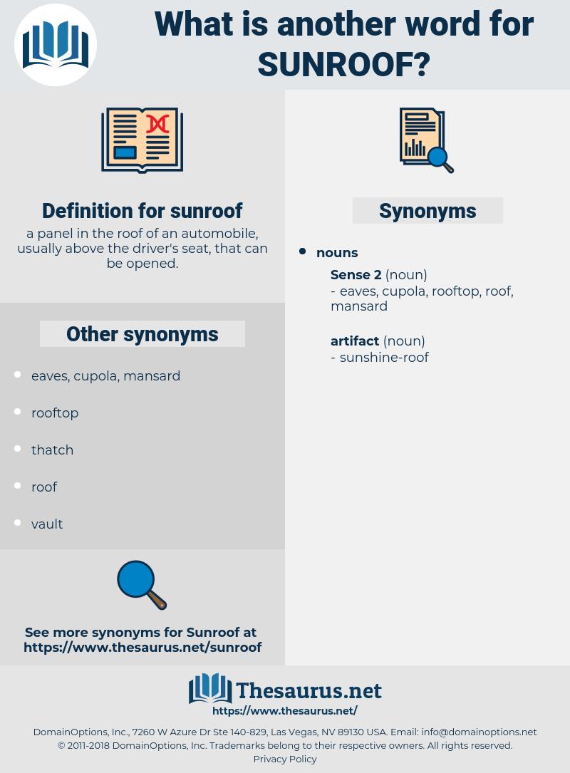 sunroof, synonym sunroof, another word for sunroof, words like sunroof, thesaurus sunroof