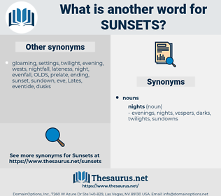 sunsets, synonym sunsets, another word for sunsets, words like sunsets, thesaurus sunsets