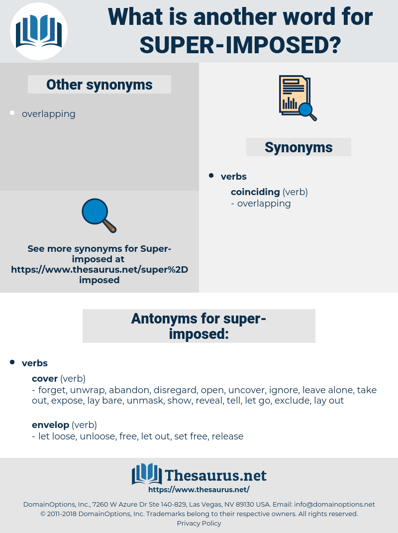 super-imposed, synonym super-imposed, another word for super-imposed, words like super-imposed, thesaurus super-imposed