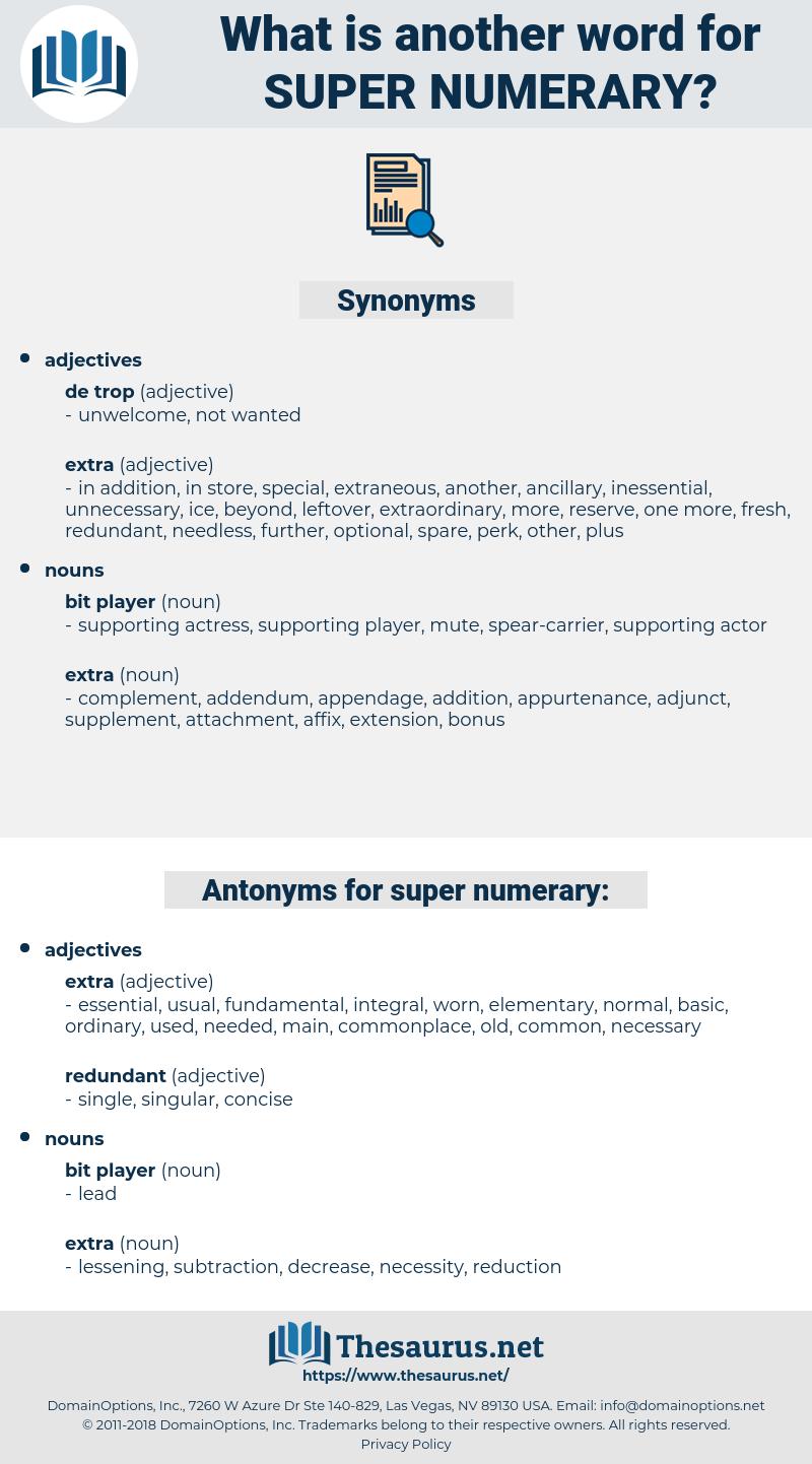 super numerary, synonym super numerary, another word for super numerary, words like super numerary, thesaurus super numerary