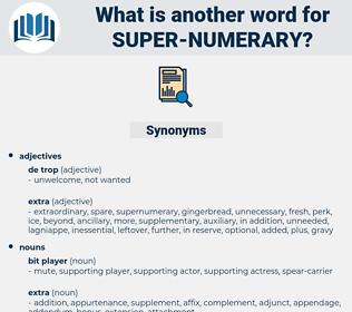 super-numerary, synonym super-numerary, another word for super-numerary, words like super-numerary, thesaurus super-numerary