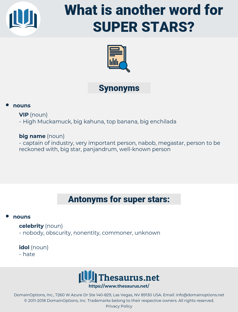 super stars, synonym super stars, another word for super stars, words like super stars, thesaurus super stars