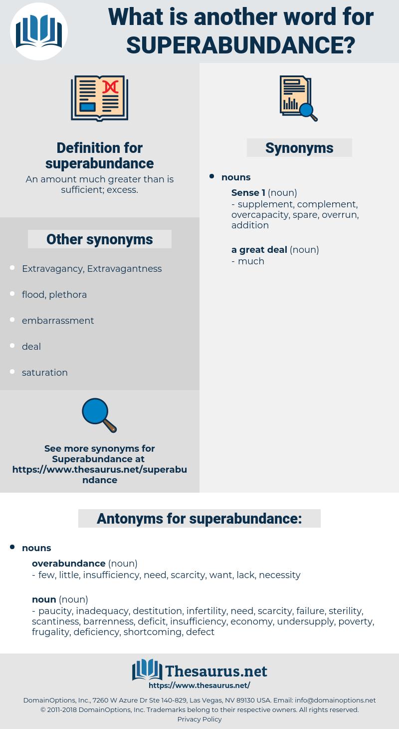 superabundance, synonym superabundance, another word for superabundance, words like superabundance, thesaurus superabundance