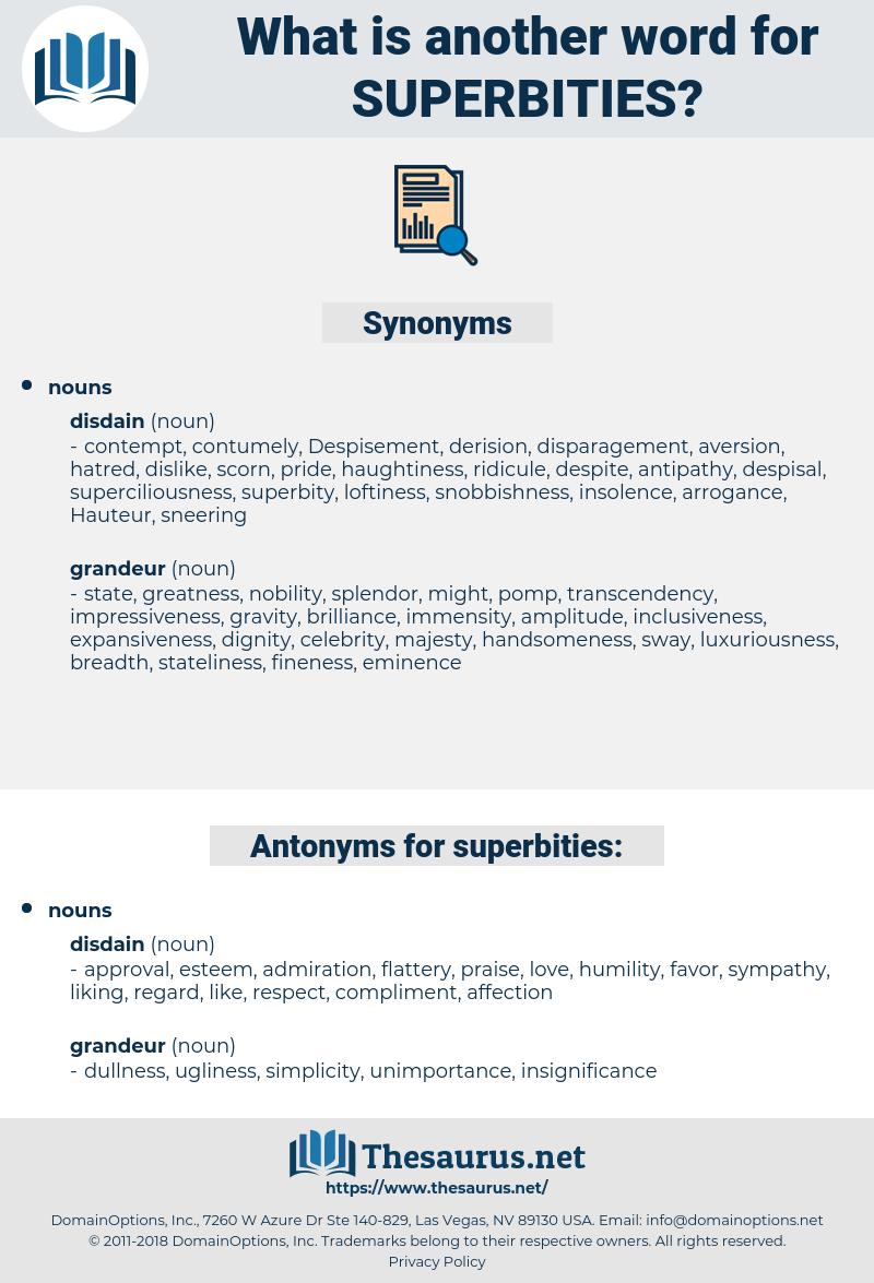 superbities, synonym superbities, another word for superbities, words like superbities, thesaurus superbities