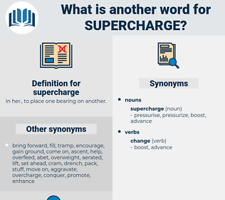 supercharge, synonym supercharge, another word for supercharge, words like supercharge, thesaurus supercharge