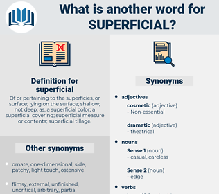 superficial, synonym superficial, another word for superficial, words like superficial, thesaurus superficial