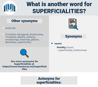 superficialities, synonym superficialities, another word for superficialities, words like superficialities, thesaurus superficialities