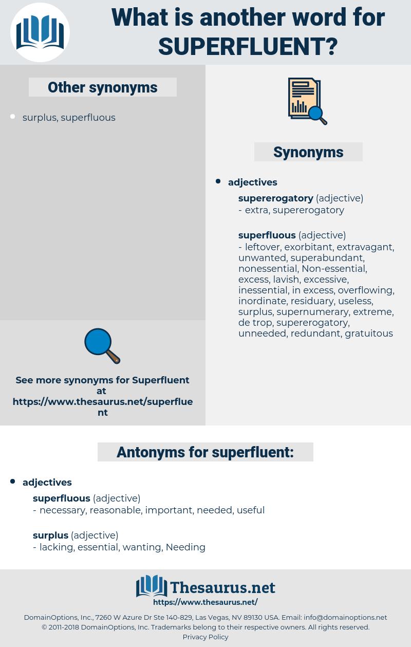 superfluent, synonym superfluent, another word for superfluent, words like superfluent, thesaurus superfluent