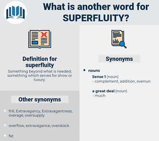 superfluity, synonym superfluity, another word for superfluity, words like superfluity, thesaurus superfluity