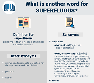 superfluous, synonym superfluous, another word for superfluous, words like superfluous, thesaurus superfluous