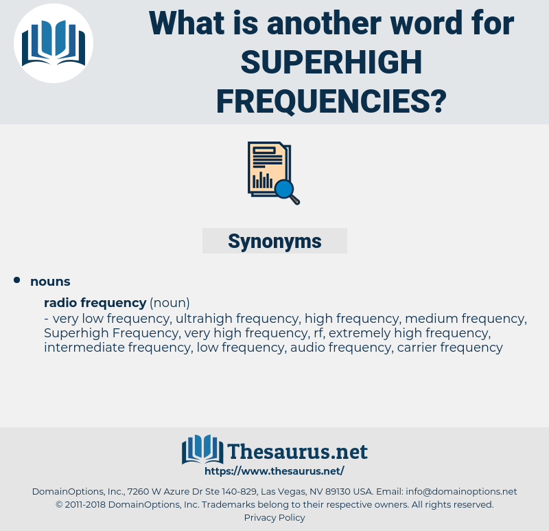 superhigh frequencies, synonym superhigh frequencies, another word for superhigh frequencies, words like superhigh frequencies, thesaurus superhigh frequencies