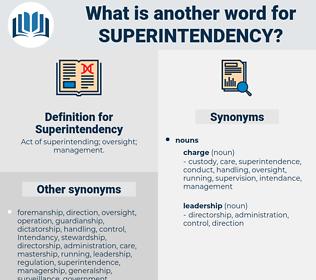 Superintendency, synonym Superintendency, another word for Superintendency, words like Superintendency, thesaurus Superintendency