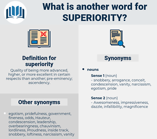 superiority, synonym superiority, another word for superiority, words like superiority, thesaurus superiority