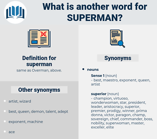 superman, synonym superman, another word for superman, words like superman, thesaurus superman
