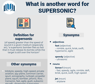supersonic, synonym supersonic, another word for supersonic, words like supersonic, thesaurus supersonic