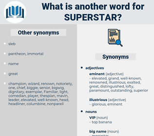 superstar, synonym superstar, another word for superstar, words like superstar, thesaurus superstar
