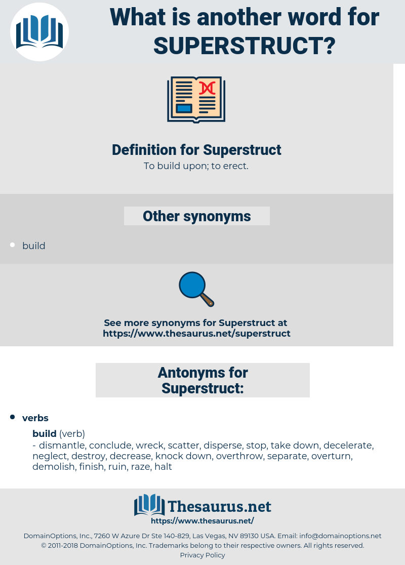 Superstruct, synonym Superstruct, another word for Superstruct, words like Superstruct, thesaurus Superstruct