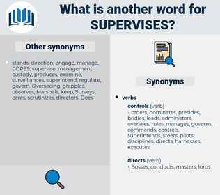 supervises, synonym supervises, another word for supervises, words like supervises, thesaurus supervises