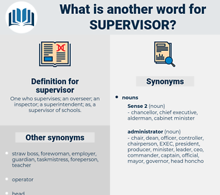 supervisor, synonym supervisor, another word for supervisor, words like supervisor, thesaurus supervisor