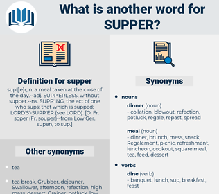 supper, synonym supper, another word for supper, words like supper, thesaurus supper