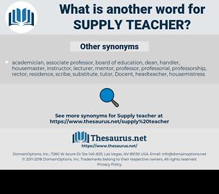 supply teacher, synonym supply teacher, another word for supply teacher, words like supply teacher, thesaurus supply teacher