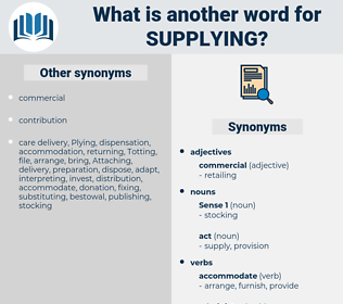 supplying, synonym supplying, another word for supplying, words like supplying, thesaurus supplying