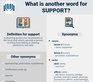 support, synonym support, another word for support, words like support, thesaurus support