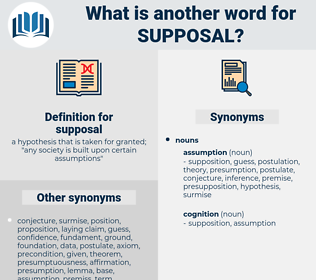 supposal, synonym supposal, another word for supposal, words like supposal, thesaurus supposal