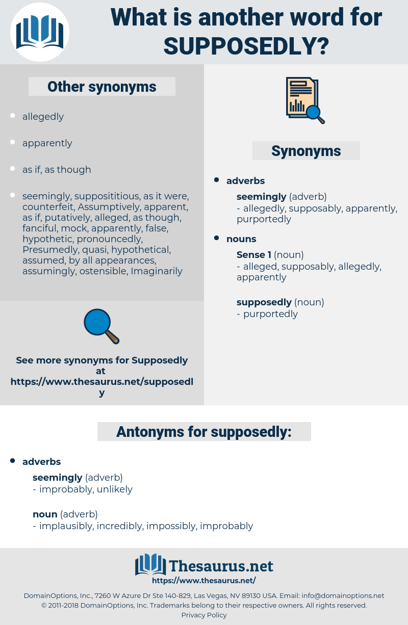 supposedly, synonym supposedly, another word for supposedly, words like supposedly, thesaurus supposedly