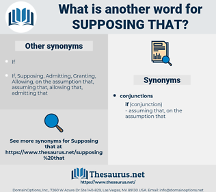 supposing that, synonym supposing that, another word for supposing that, words like supposing that, thesaurus supposing that