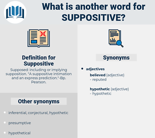 Suppositive, synonym Suppositive, another word for Suppositive, words like Suppositive, thesaurus Suppositive