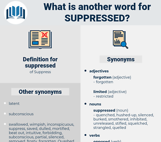 suppressed, synonym suppressed, another word for suppressed, words like suppressed, thesaurus suppressed